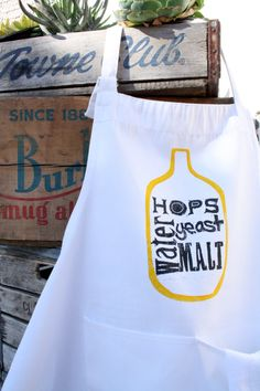 Beer Brewing Apron - Home Brewing - Dad - Fathers Day - Beer - Men - Dude - Bar - Man Cave - home brew via Etsy