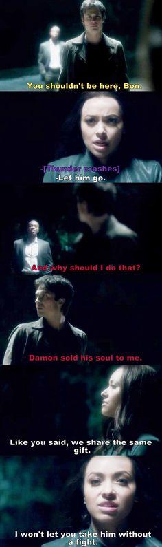 The Vampire Diaries TVD S08E14 - Damon, Bonnie and Cade.