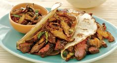 Asian Steak Tacos with Spicy Mushroom Salsa