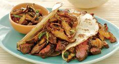 Asian Steak Tacos with Spicy Mushroom Salsa
