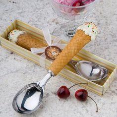 <em>Ice Cream Lovers' Collection</em> Ice Cream Scoop Love Ice Cream, Ice Cream Party, Vanilla Ice Cream, Ice Cream Scoop, Cream Cups, Summer Wedding Favors, Wedding Favours, Wedding Ideas, Summer Weddings