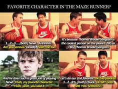 Will Poulter and Ki Hong Lee. IM READING TMR RIGHT NOW AND ITS AMAZING