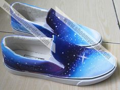 starry sky couple shoes