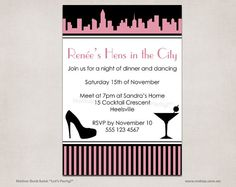 sex and the city hens night bridal shower invitation hen night ideas hen