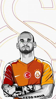 Sneijder,Sneijder, Wesley, Galatasaray, Xava, Red, Yellow, Team, Player, 3D Wallpaper, 4K Wallpaper, Design Water Polo, Sports Clubs, Arya Stark, Rowing, Judo, Football Players, Messi, World Cup, Captain America