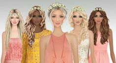 Covet Fashion Games, Fashion Art, Cover Model, Bridesmaid Dresses, Wedding Dresses, Flower Power, Cool Hairstyles, Stylists, Girly