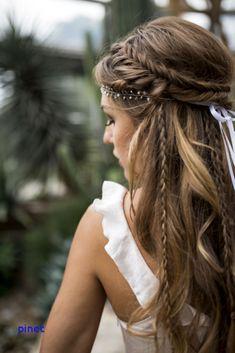 Love this hairstyle wedding hairstyles updo Wedding hairstyle, Wedding updo Wedding hairstyle trend, Bridal hair, Bridal inspiration, Wedding inspiration # brautfrisur Brautmode brautstyling brauthaare Veil Hairstyles, Wedding Hairstyles For Long Hair, Wedding Hair And Makeup, Hair Makeup, Hairstyle Wedding, Braided Bridal Hairstyles, Bohemian Wedding Hairstyles, Fairy Hairstyles, Dress Makeup