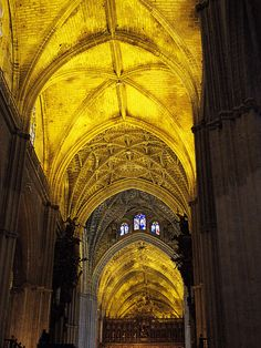 Seville Cathedral ceiling, Spain