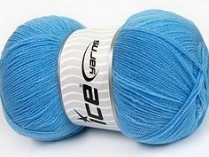 Kristal Light Blue  Very thin yarn. It is spinned as two threads. So you will knit as two threads. Yardage information is for only one strand. Fiber Content 100% Acrylic, Light Blue, Brand Ice Yarns, Yarn Thickness 1 SuperFine  Sock, Fingering, Baby, fnt2-54723 Yarns, Sock, Fiber, Light Blue, Content, Throw Pillows, Knitting, Baby, Toss Pillows