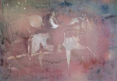 Miriam Vlaming, Reiter, 2015, Egg tempera on canvas, 50 x 70 cm, Courtesy Galerie Dukan | Galerie Dukan