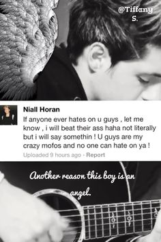 just one more reason to love Niall Horan <3