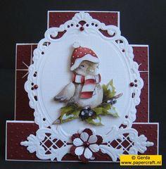 Kerstkaart met Joy! Crafts met diepte