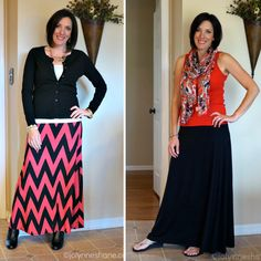 Click through to learn how to style a maxi skirt 2 different  ways! Jo-Lynne Shane