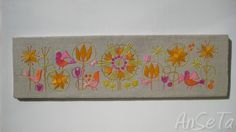 Vintage Scandinavian Embroidered Panels