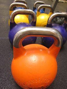 Kettle ball exercises.