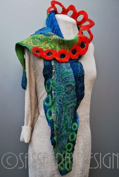 Gorgeous scarf by sassafrasdesign: Red