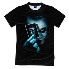 Мужская футболка 3D с полной запечаткой Джокер Фото 01, Мужская футболка 3D с полной запечаткой Джокер белый