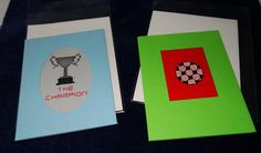 pair of football themed greetings cards by LittleInsect on Etsy £1.99