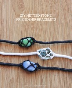 DIY Netted Stone Macrame Friendship Bracelet Tutorial from Curly Made.There is both a video and written tutorial depending on your learning style. Thank you Curly Made for both tutorial options and not just posting a video tutorial! I've posted several netted stone necklaces and earrings, but I've never seen a bracelet version.These are the netted or macrame DIYs I've posted on my blog so far. You can also see a roundup of my 12 Favorite Macrame Jewelry DIYs here.Macrame Stone Necklace…