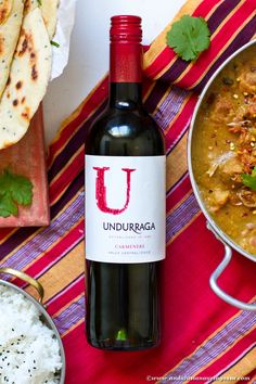Carménère is not the first thing you'd think of when matching wine with Indian food. But, this interesting grape with exciting history is a surprisingly good match! Read more - and find my recipe pairing for it on the blog! #wine #winelover #foodandwine #carmenere #indianfood #redwine