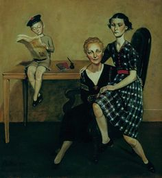 La famille Mouron-Cassandre, 1935 by Balthus (Polish-French: European Paintings, Contemporary Paintings, Tate Gallery, John Piper, Edward Hopper, Paintings I Love, Awesome Paintings, Modern Artists, Paris