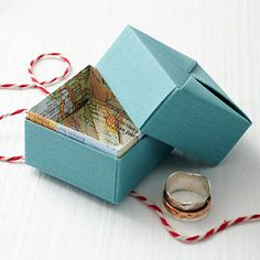 Personalized Origami Map Box