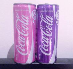 Pastel coke cans
