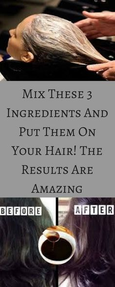Mix These 3 Ingredients And Put Them On Your Hair! The Results Are Amazing