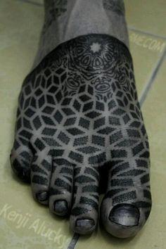 foot tattoo by Kenji Alucky