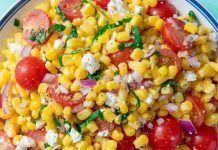 Καλοκαιρινή, γευστική Σαλάτα Καλαμποκιού Vegetables, Party, Recipes, Food, Recipies, Essen, Vegetable Recipes, Parties, Meals
