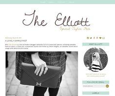 Premade Blogger Template - The Elliott Blogger Templates, About Me Blog, Pretty