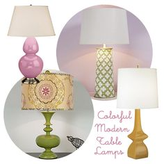 15 Colorful and Modern Table Lamps