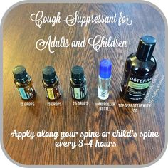 Cough Suppressant for Adults and Kids Follow me on Instagram: https://www.instagram.com/fromashstooilsbyashley/ Order your oils at: http://mydoterra.com/teamwhitesell