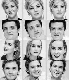 Jennifer Lawrence, Josh Hutcherson, Jena Malone, Sam Calflin, HUNGER GAMES, Katniss Everdeen, Peeta Mellark, Johanna Mason, Finnick Odair