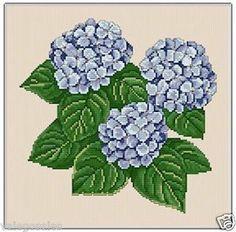 Ellen Maurer-Stroh Counted Cross Stitch Chart Pattern ~ HYDRANGEA #034