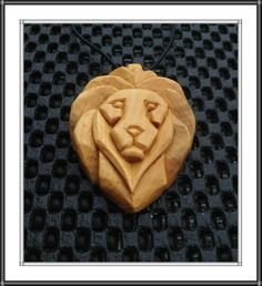 Lion pendant Standard Leaf Style and design Learners start off by Studying standard slicing procedures, creating a fundamental leaf from cucumber. Wood Carving Designs, Wood Carving Patterns, Wood Carving Art, Wood Art, Dremel Carving, Soap Carving, Whittling Wood, Wood Necklace, Wooden Jewelry