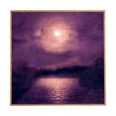 Viviana Gonzalez Purple Sunset Framed Wall Art | DENY Designs Home Accessories