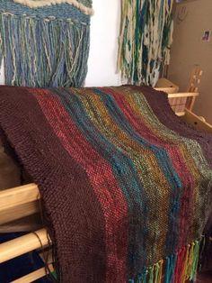 Mantas, Pieceras tejidas a telar con lana y algodón // Hand woven blanket de ArboledaTelares en Etsy