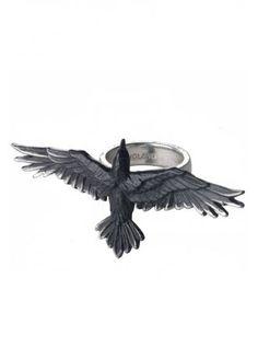 Alchemy Gothic Black Consort Ring | Attitude Clothing