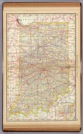 1879 Rand McNally map of Indiana including railroad lines
