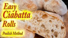Ciabatta bread rolls made at home - YouTube
