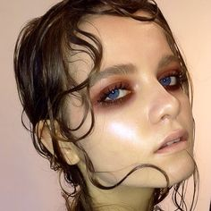 #NikkiMakeup1 wet look hair and makeup