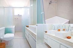 Portal Decoração - Banheiras em banheiros pequenos