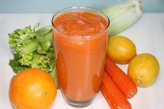 Citrus Carrot Juice Ingredients: 4 carrots  4 celery stalks  2 oranges  2 lemons