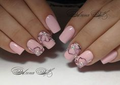 New flowers painting acrylic nails ideas Best Nail Art Designs, Nail Polish Designs, Nails Polish, Nails Design, Stylish Nails, Trendy Nails, Cute Nails, Bling Nails, My Nails