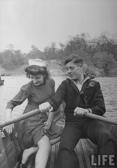 A sailor and his date ejoying day in Central Park while he is on shore leave,NY, 1943, Peter Stackpole
