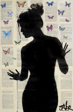 """Saatchi Art Artist Loui Jover; Drawing, """"butterfly effect"""" #art"""