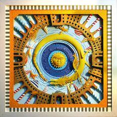 Click for more closeup pics!   Marcelo Kato Creates Colorful Mediterranean Sea Inspired Cut Paper Illustrations - Golden Dragon