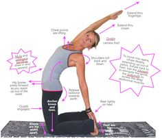 Half camel pose: Ardha Ustrasana - This is a great feel-good pose for those with flexible spines! If it doesn't feel all that great for YOU, go easy and. Yoga Tools, Yoga Lessons, Good Poses, Relaxing Yoga, Yoga Teacher Training, Yoga For Weight Loss, Yoga For Beginners, Asana, Yoga Fitness