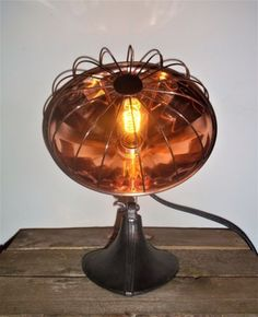 UpCycled-Vintage-Copper-Heat-Lamp-Adjustable-Industrial-Steampunk-Table-Lamp